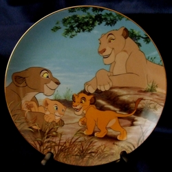 Disney Collector Plate Lion King Best Friends 1996 10th Issue SOLD