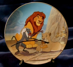 Disney Collector Plate Lion King The Circle Continues 1996 12th Issue Out of Stock