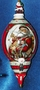 Old Fashion Type Porcelain Ornament Father Christmas
