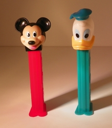 Pez Mickey Mouse & Donald Duck with Feet