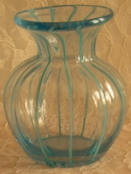 Blue Studio Art Glass Vase Bohemian?