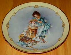Collector Plate Playing Mama Little Ladies Series