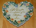 Collector Plate 2001 Reflection of Love Series Name Expressions From the Heart
