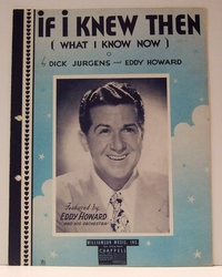 If I Knew Then (What I Know Now) - Sheet Music