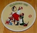 1992 Rockwell Plate The Christmas Surprise Series Name Annual Holiday Plate