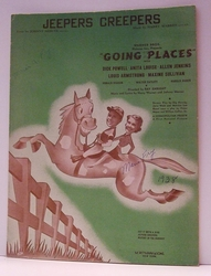 Jeepers Creepers Going Places- Sheet Music