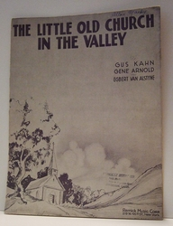 The Little Old Church in the Valley - Sheet Music