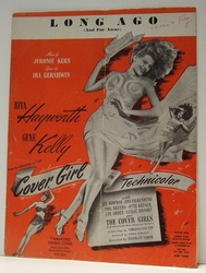 Long Ago (And Far Away) Film Cover Girl - Sheet Music SOLD