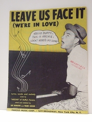 Leave Us Face It (We're In Love) - Sheet Music