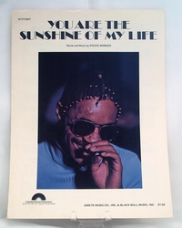 Sheet Music You are the Sunshine of My Life Stevie Wonder 1972