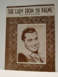 The Lady From 29 Palms - Sheet Music