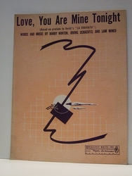 Love, You Are Mine Tonight - Sheet Music