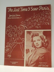 The Last Time I Saw Paris Judy Garland - Sheet Music SOLD