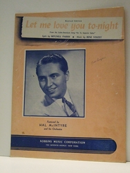 Let me Love You To-Night - Sheet Music