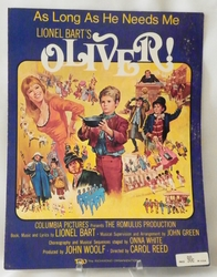 Sheet Music As Long As He Needs Me Oliver 1960