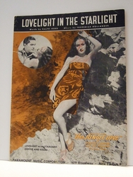 Lovelight In The Starlight Dorothy Lamour - Sheet Music
