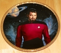 Star Trek Next Generation (TNG) Collector Plate William T. Riker