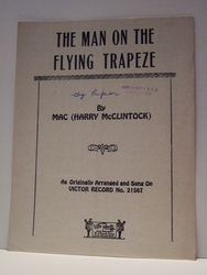 The Man on the Flying Trapeze - Sheet Music