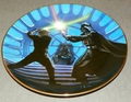 Collector Plate Star Wars Luke Skywalker and Darth Vader