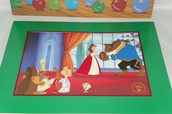 Disney Store 1997 Beauty and the Beast Enchanted Christmas Exclusive Commemorative Lithograph
