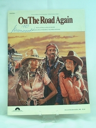 Sheet Music On The Road Again Willie Nelson 1979