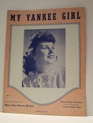 Sheet Music My Yankee Girl