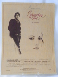 Sheet Music Somewhere in Time 1980