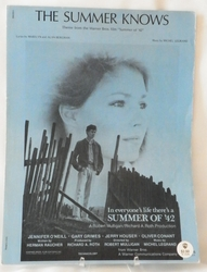 Sheet Music The Summer Knows from Summer of 42 1971