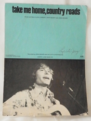 Sheet Music Take Me Home, Country Roads John Denver 1971