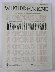 Sheet Music What I Did For Love 1975