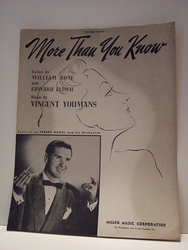 More Than You Know - Sheet Music