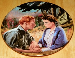 Gone With The Wind Collector Plate Scarlett & Ashley After War