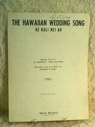 Sheet Music Hawaiian Wedding Song
