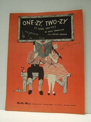 One-ZY, Two-ZY (I Love You-Zy) - Sheet Music