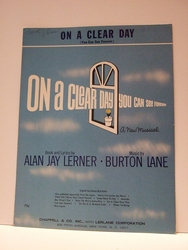 On A Clear Day (You Can See Forever) - Sheet Music