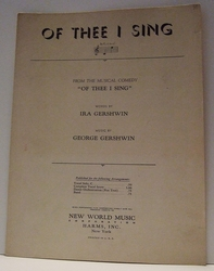 Of Thee I Sing - Sheet Music