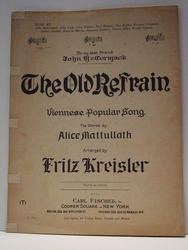 The Old Refrain - Sheet Music