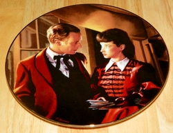Gone With The Wind Collector Plate Scarlett Gets Down to Business Out of Stock