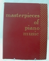 Sheet Music Book Masterpieces of Piano Music 1918