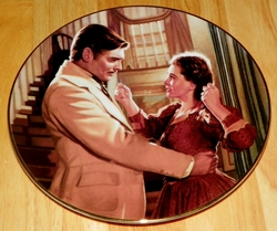 Gone With The Wind Collector Plate Scarlett's Hearts with Tara Out of Stock