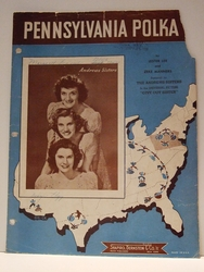 Pennsylvania Polka Andrew Sisters- Sheet Music