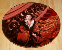 Gone With The Wind Collector Plate Waiting for Rhett Out of Stock