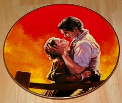 Gone With The Wind Collector Plate Fiery Embrace Out of Stock