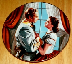 Gone With The Wind Collector Plate Fond Farewell