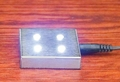 Light Base - 4 LED White Lights Silver 2 X 2 X 7/16 Out of Stock