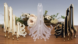 Lucite & Plastic Plate Stands
