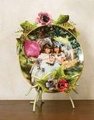 Iron Floral Easel Plate Stand