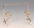 Tabletop Brass Easel - 4 1/2 X 3 X 3 3/8 inches Protective Feet
