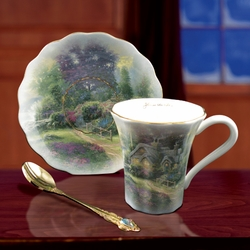 Thomas Kinkade New Day Dawning Tea Set