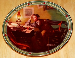 Collector Plate Young Man's Dream Norman Rockwell American Dream Series